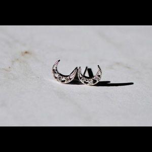 Moon sterling silver earrings